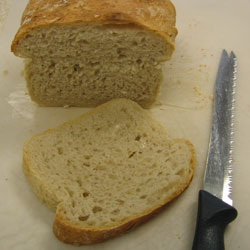 White Sandwich Loaf No-Knead Bread sliced
