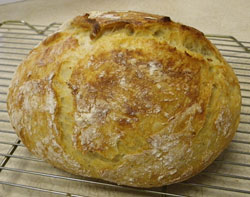 No-Knead Artisian Bread from Dutch Oven