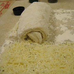 Italian Cheese No-Knead Bread - Rolled Up