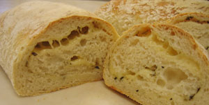 Italian Cheese No-Knead Bread