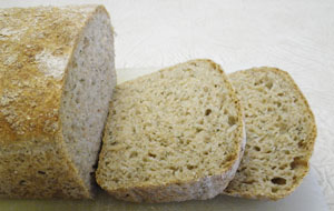 Onion Dill Wheat No-Knead Bread