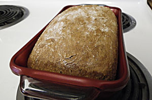 Dark Rye No-Knead Bread