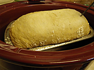 No-Knead Bread baked in a Crock Pot